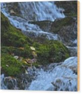 Bubbling Waterfall Wood Print