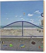 Buccaneer Beach Wood Print