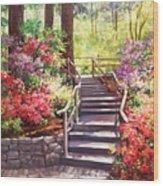 Buchart Garden Stairway Wood Print