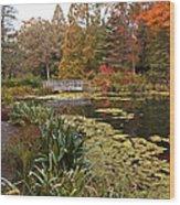 Buck Garden Fall Wood Print