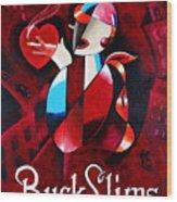 Buck Slims Cigarettes Wood Print