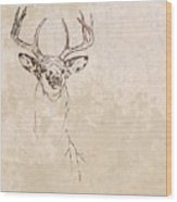 Buck Unfinished Art Wood Print