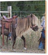 Buckaroo Cowgirl Wood Print