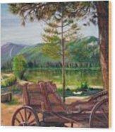 Buckboard Wood Print