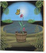 Bucket Butterfly Wood Print