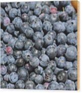 Bucket Of Blueberries Wood Print