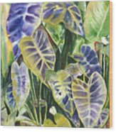Bucket Of Purple Taro Wood Print