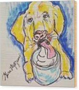 Buckett List For Dogs Wood Print