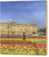 Buckingham Palace London Panorama Wood Print
