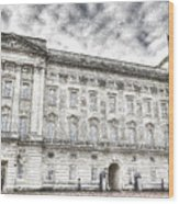 Buckingham Palace London Snow Wood Print