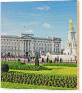 Buckingham Palace Sunny Day Wood Print