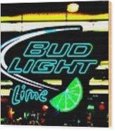 Bud Light Lime Tweeked Wood Print