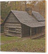Bud Ogle Cabin Fall  Wood Print