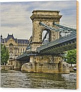 Budapest - Chain Bridge Wood Print