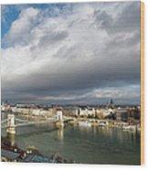 Budapest Panorama Wood Print