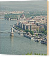 Budapest Panorama Photo Wood Print