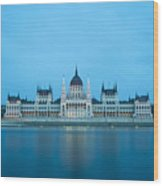 Budapest Parliament Building Wood Print