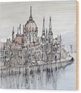 Budapest Parliament Wood Print
