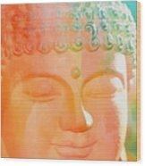 Buddah Glow Wood Print