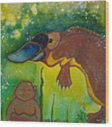 Buddha And The Divine Platypus No. 1375 Wood Print