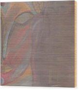 Buddha By Night Wood Print