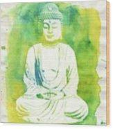 Buddha By Raphael Terra Wood Print