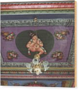 Buddha Ceiling Wood Print