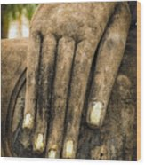 Buddha Hand Wood Print by Adrian Evans