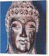 Buddha Head 1 Wood Print