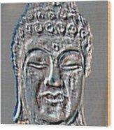 Buddha Head 3 Wood Print