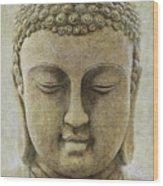 Buddha Head Wood Print by M Montoya Alicea