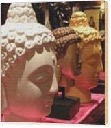 Buddha Heads Wood Print