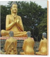 Buddha In Cambodia Wood Print