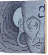 Buddha In Ink Wood Print