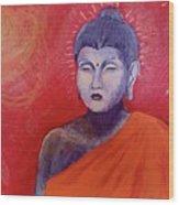 Buddha In Red Wood Print