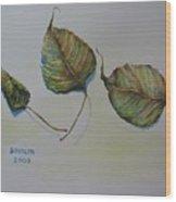 Buddha Leaf 1 Wood Print