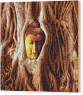 Buddha Of The Banyan Tree Wood Print