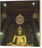 Buddha Sitting Wood Print