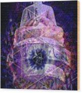 Buddha Spinning In A Merkaba Wood Print