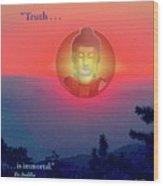Buddha Sunset Wood Print
