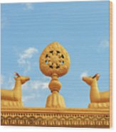 Buddha Symbol Wood Print