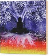 Buddha Under The Wisdom Tree Wood Print