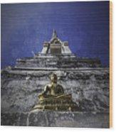 Buddha Watching Over Wood Print
