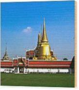 Buddhaist Temple Wood Print