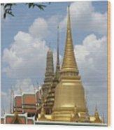 Buddhist Chedi - Bangkok Wood Print