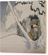 Buddhist Cleric Nichiren In Exile And Homage To Yoshitoshi Wood Print