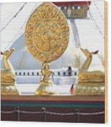Buddhist Dharma Wheel Wood Print