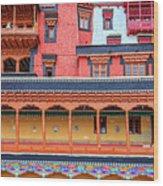 Buddhist Monastery Building Wood Print