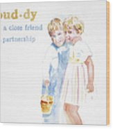 Buddy Wood Print