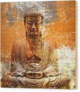 Budha Textures Wood Print